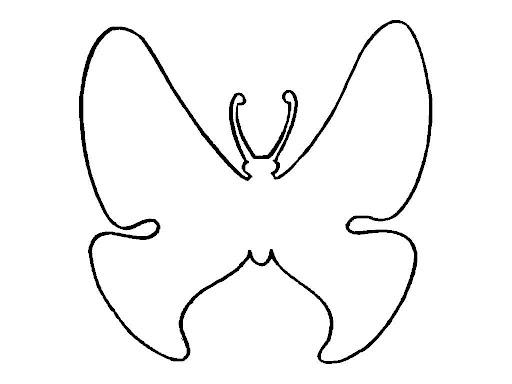 Silueta de mariposa para imprimir imagui - Siluetas para imprimir ...