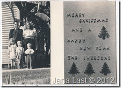 Iverson Christmas Card from 1939