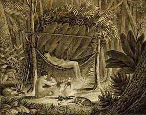 Cabana dos Puris 1822. ,M. G. Eichler