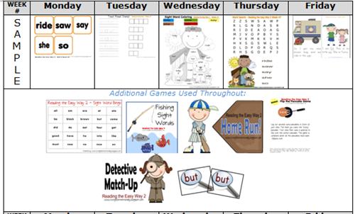 Reading the Easy Way Kindergarten - Reading Worksheets