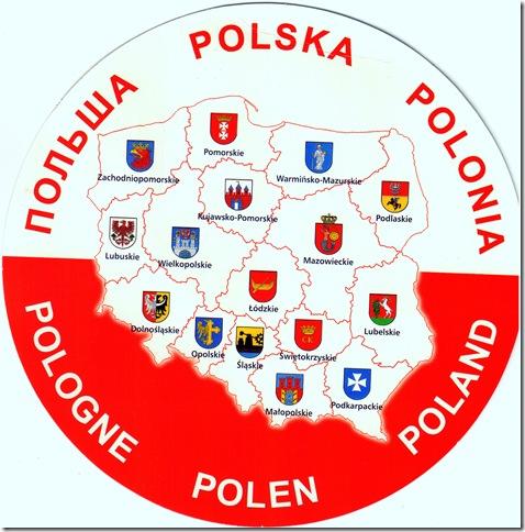 Poland round mapcard