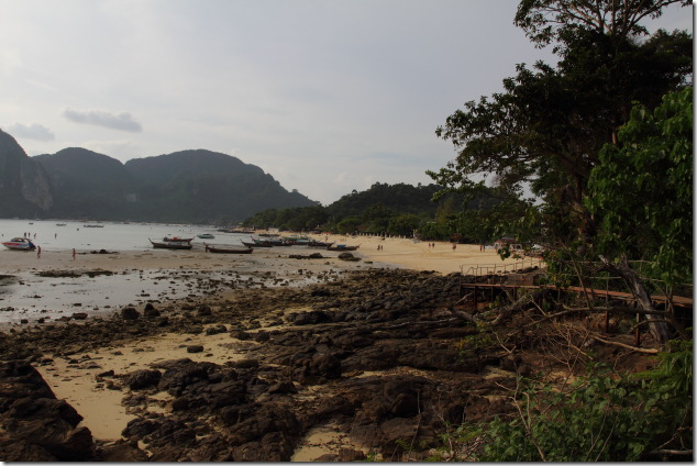 Ton Sai Bay during low tide