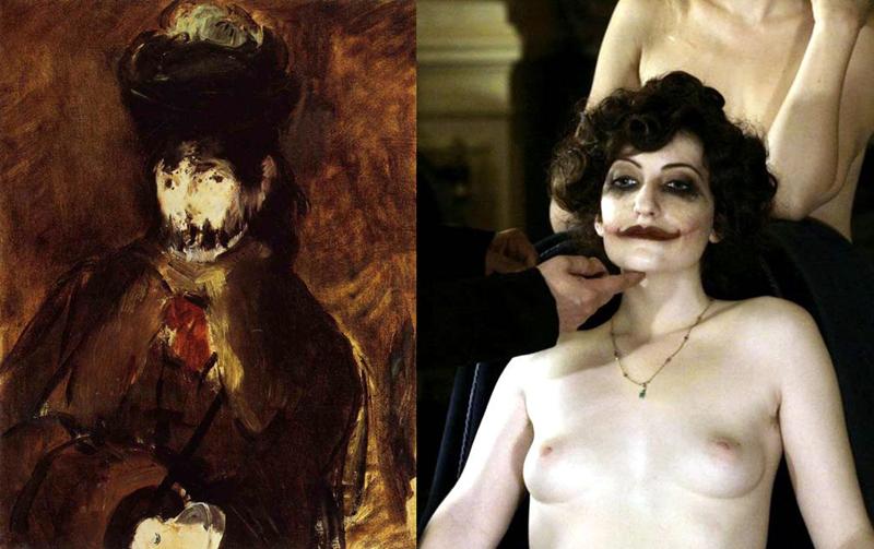 Berthe Morisot with a veil, Manet / Kadr z filmu Apollonide. Zza okien domu publicznego, reż. Bertrand Bonello