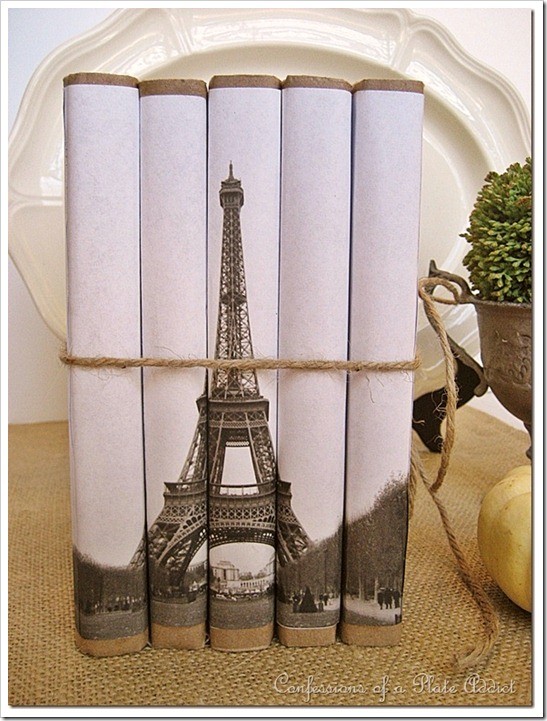 CONFESSIONS OF A PLATE ADDICT Vintage Eiffel Tower Book Bundle