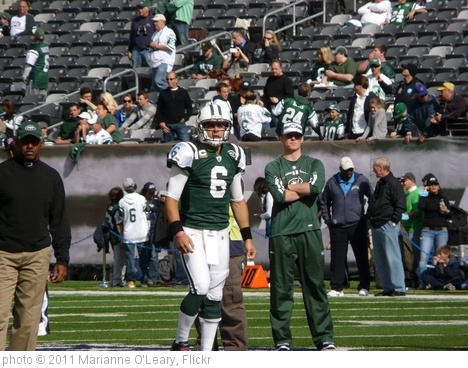 'New York Jets Quarterback Mark Sanchez Warms Up' photo (c) 2011, Marianne O'Leary - license: http://creativecommons.org/licenses/by/2.0/