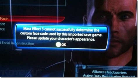 mass effect 3 shepard import error 01