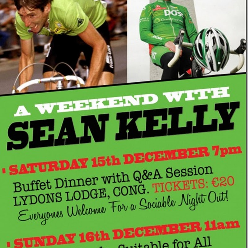 Join Us For The GCD Christmas Party With Cycling Legend Sean Kelly This Saturday