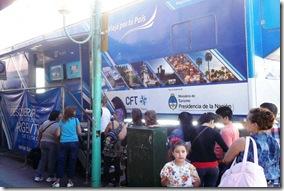 El tráiler de Nación contiene folletería ilustrada e información  sobre distintos lugares turísticos de nuestro país