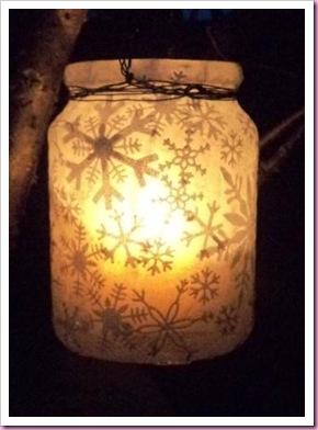Snowflake Christmas Jar lantern
