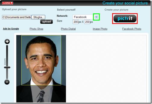 Mypictr tagliare immagini per i social network