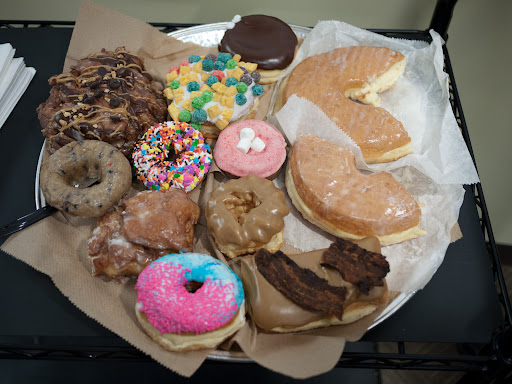 Donuts from Voodoo Donut; notice the bacon!
