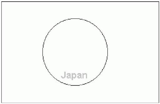 Excepcional Colorear Bandera Japonesa Galería - Páginas Para ...