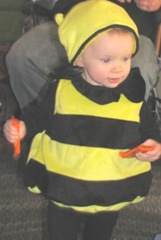10.30.2011 Bella Halloween bumble bee trick or treating5