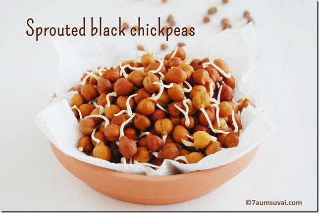 Sprouted black chickpeas