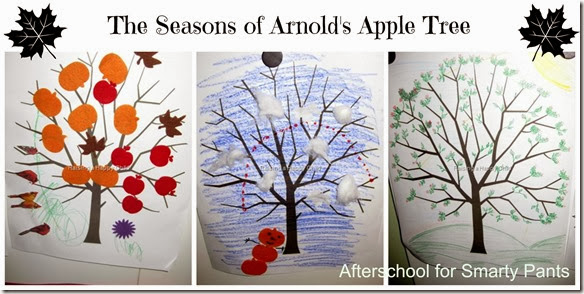 Afterschooling for Smarty Pants: The Seasons of Arnold Apple Tree Art Project