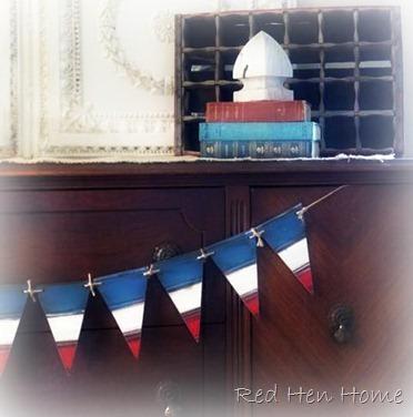 patriotic beadboard pennant banner bunting
