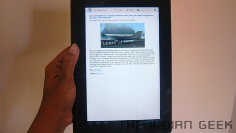 Sony Tablet S - Screen and Reading