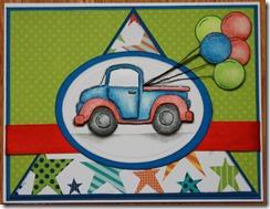carte camion et ballons