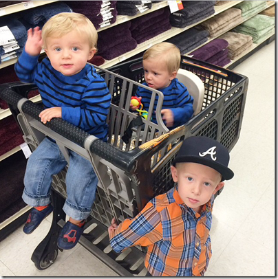 Shopping with twins
