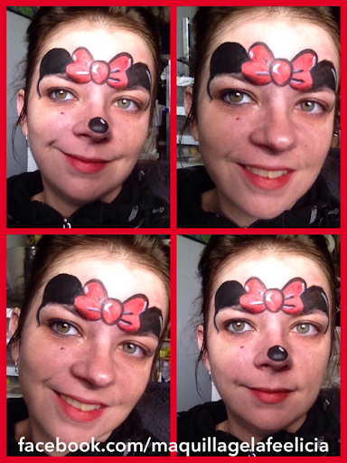 Disney Minnie Mouse face painting