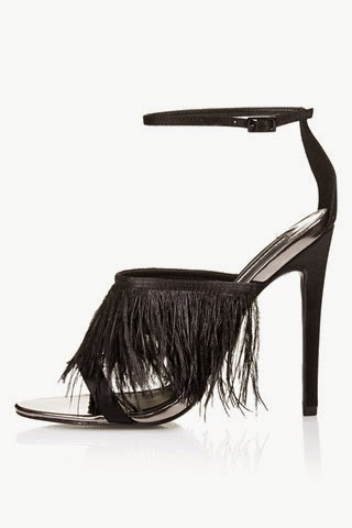 Topshop-black-feather-sandals £58