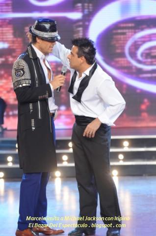 Marcelo imita a Michael Jackson con Iripino.JPG