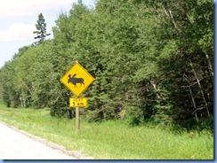 2161 Manitoba Hwy 10 North Riding Mountain National Park - Moose warning sign