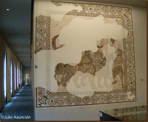 Salas de Roma en el Museo de Navarra - mosaico del triunfo de Baco