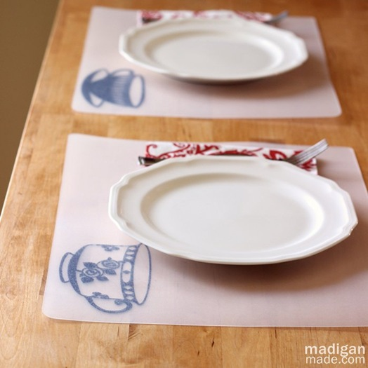 DIY placemats, a simple craft with plastic chopping mats - madiganmade.com