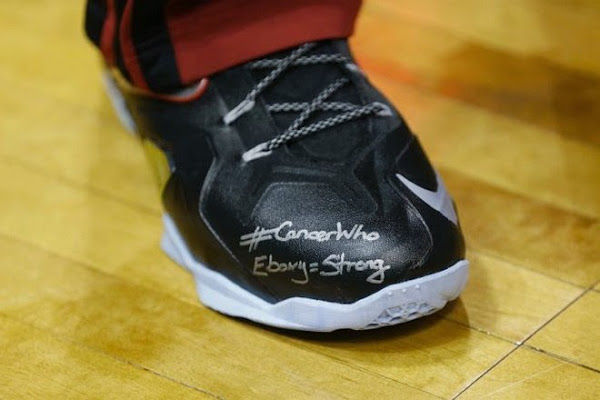 LeBronMetEbony and Wrote Her Special Message on His LeBron 11 Elite PEs