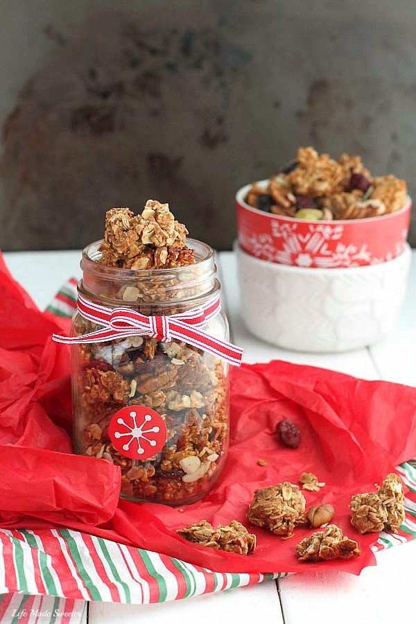 Gingerbread Granola Clusters - Start your morning off with all the flavors of classic gingerbread in a spiced and flavorful granola with big crunchy clusters from @LifeMadeSweeter.jpg