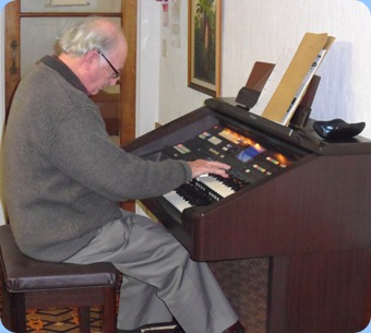 Our past-President, George Watt, played a medley and some individual pieces for us on the Club's Technics GA3 organ.
