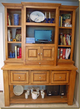 custom designed kitchen hutch