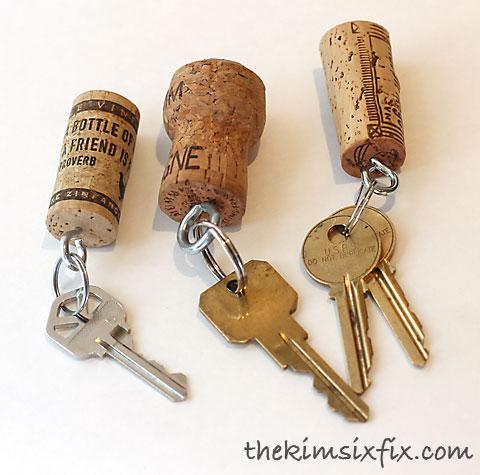 Cork keychains