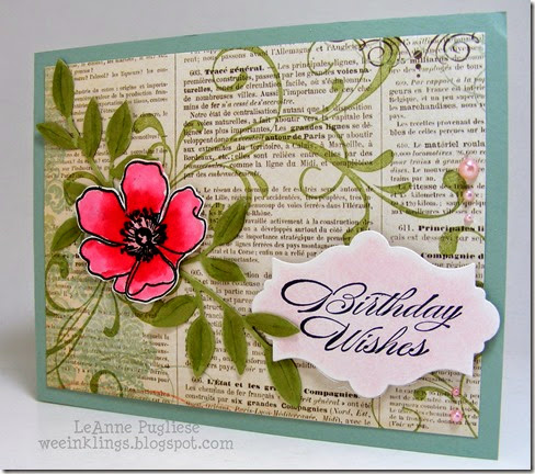 LeAnne Pugliese WeeInklings ColourQ240 Stampin Up Fabulous Florets Birthday