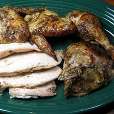 Nutmeg Chicken Under a Cast-Iron Skillet
