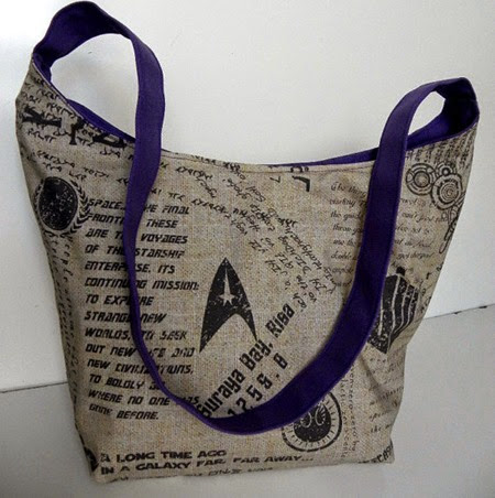 Star Trek Slouch Hobo Bag from Brooke Van Gory Designs