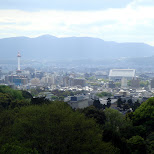 gorgeous view of kyoto and kyoto tower from kiyomizu in Kyoto, Kyoto, Japan