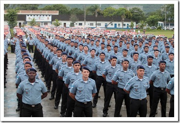 11012012 - Rio de Janeiro, Formatura da IV turma de soldados da PM realizado no CFAP.