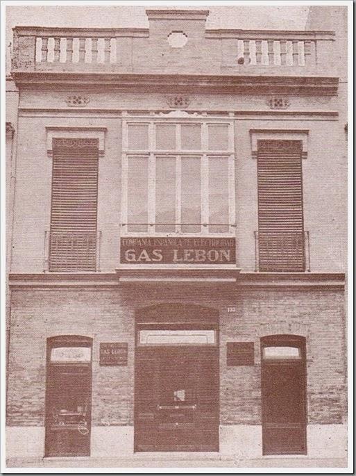 Gas Lebón, calle de la Libertad, 133. 1927