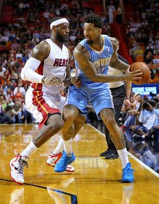 lebron james nba 140314 mia vs den 03 LeBron Goes Back to LeBron 11 with New Miami Heat Home PE