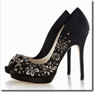 Jewel Encrusted Peep Toe Court