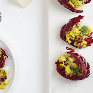 Curried Tempeh and Apple Salad in Radicchio Cups From 'Salad Samurai'