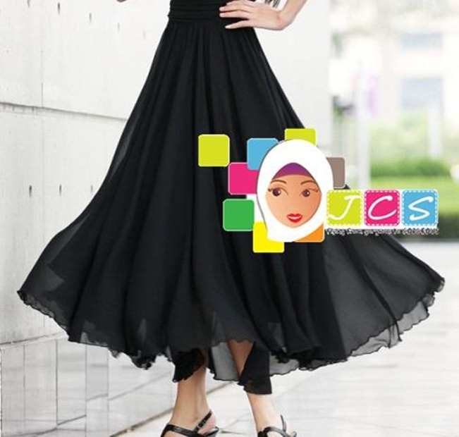 AWESOME CHIFFON CREPE BLACK