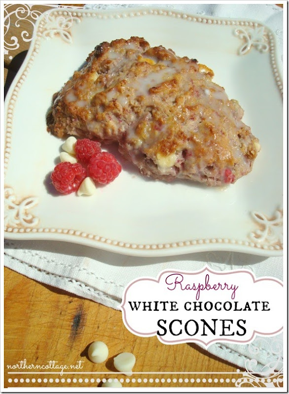 {Northern Cottage} - Raspberry White Chocolate Scones Recipe