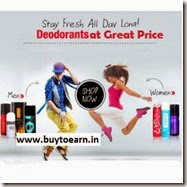 Amazon : Buy Deodorants upto 38% off from at Rs.125 only,starting at Rs.117 Only – Buytoearn