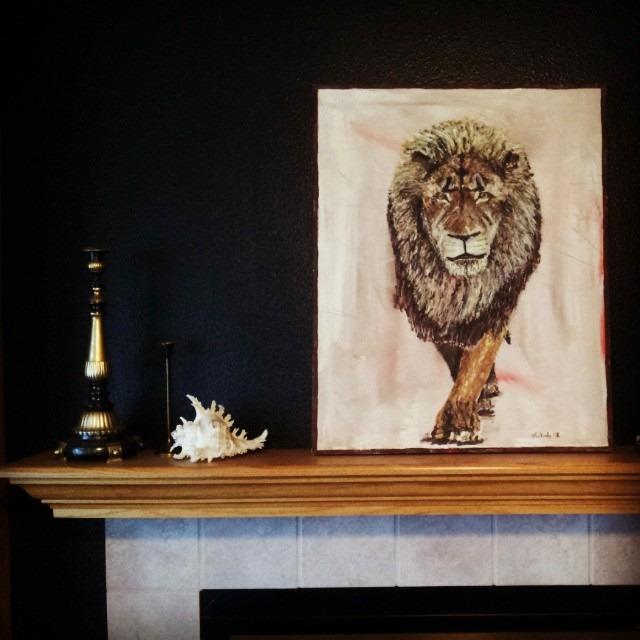 thriftscorethursday jennbrasher lion art