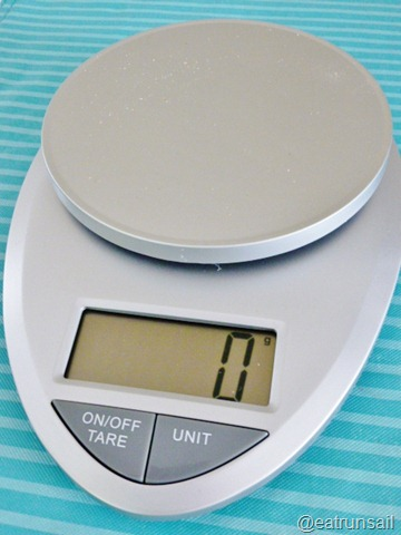Eat run sail eat smart precision pro kitchen scale for Professional food scale