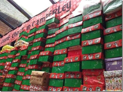 St Pauls Shoe Boxes for Operation Christmas Child