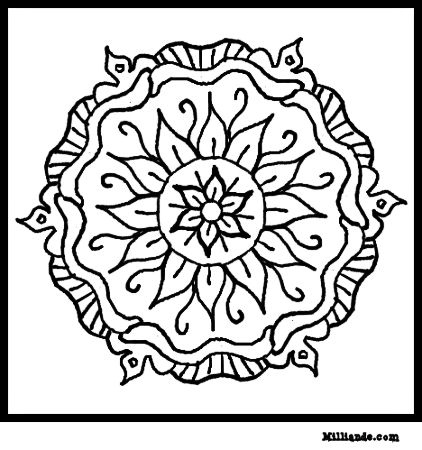 Coloring pages for girls mandala coloring pages disenos for Art color pages